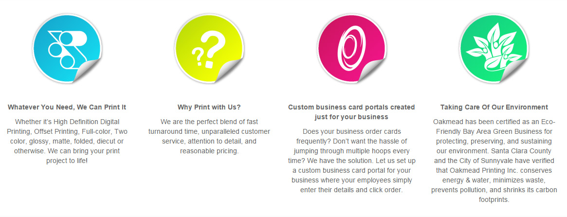 Why Work With Oakmead Printing Inc